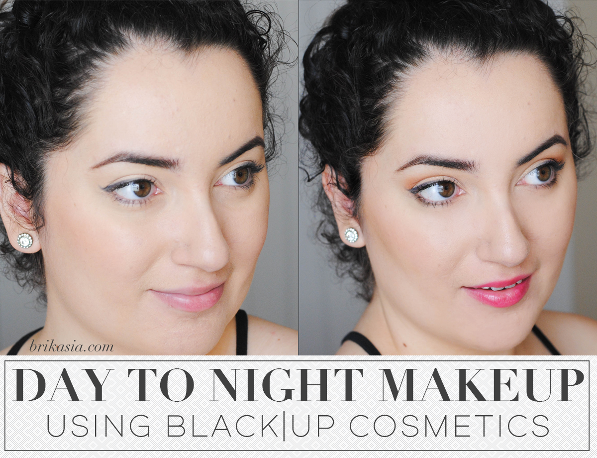 Day To Night Makeup Look with Black Up Cosmetics, how to transition makeup from day to night, winged eyeliner, hot pink lipstick, black up cosmetics review, easy daytime and nighttime makeup tutorial