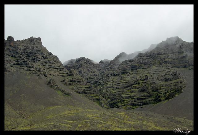 Montañas en el este de Islandia