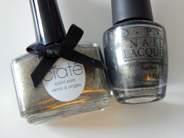 Ciate Glametal Review and Swatches, OPI Number One Nemesis Dupe
