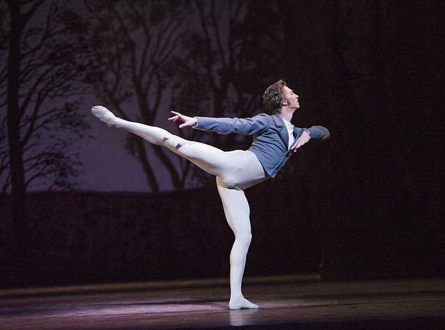 Vadim Muntagirov as Lensky in Onegin © ROH 2015. Photo by Tristram Kenton