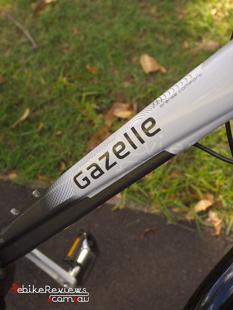 "Gazelle Orange C8 Hybrid M Impulse 2.0 • <a style=""font-size:0.8em;"" href=""https://www.flickr.com/photos/ebikereviews/16405539595/"" target=""_blank"">View on Flickr</a>"