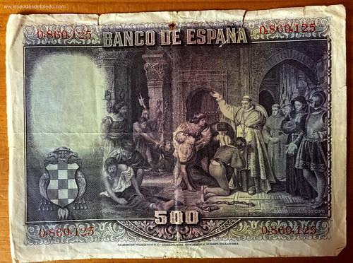 500 pesetas 1928