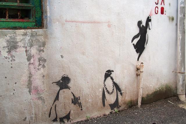 gangsta penguins, Georgetown, Penang, Malaysia