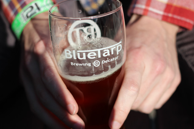 Blue Tarp Brewery Glass