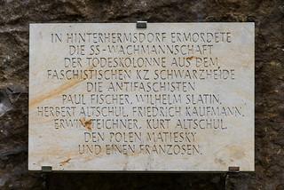 Gedenktafel am Mönchstein