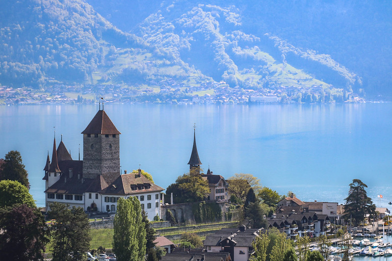 Spiez and Oberhofen castles, Interlaken