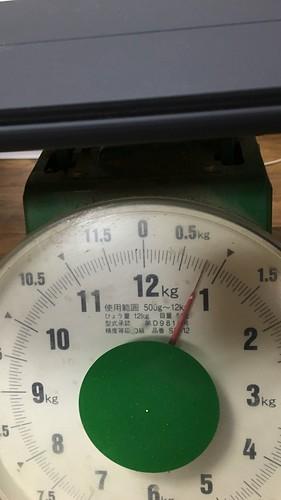 キーボードとケースの装着重量