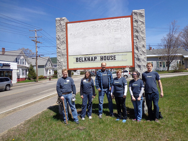 NH Team help the Belknap House