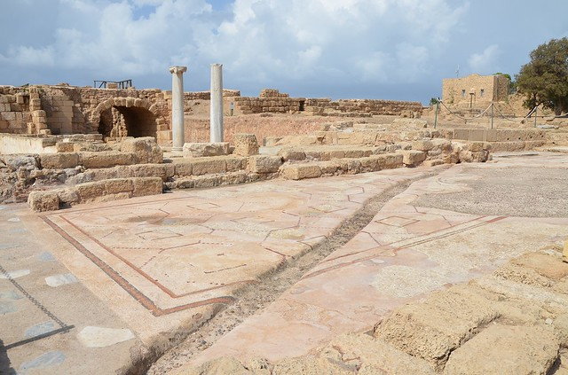 The Praetorium, the Byzantine Governor's Palace, combining administration, financial and judicial functions, Caesarea Maritima, Israel