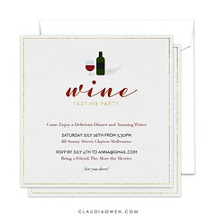 Have you ever been to a wine tasting party? I designed this card for @finestationery #partyinvitations #wine