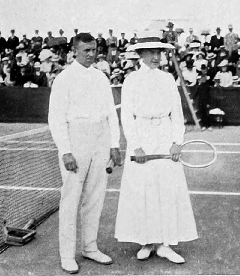 Dorothea Köring and Heinrich Schomburgk, German tennis players, gold medal winner in tennis mixed of the 1912 Olympics.