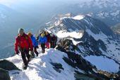 Besteigung Großglockner mit Bergführer. Die letzten Meter zum Gipfel. Foto: Günther Härter.