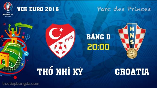 Thổ Nhĩ Kỳ vs Croatia