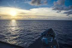 160622-N-XQ474-013 PHILIPPINE SEA (JUNE 22, 2016) Ticonderoga-class guided-missile cruiser USS Chancellorsville (CG 62) transits through the Philippine Sea. Chancellorsville is on patrol with Carrier Strike Group Five (CSG 5) in the U.S. 7th Fleet area of