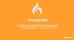 CodeIgniter Overview