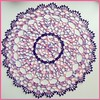 Threadies Sept 15 CAL_Shaded Pink and Lavender Doily Star Doily book no 104 American thread co 1953