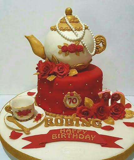 Teapot Inspired Cake by Mercidita Hernandez of Jefcee's Cakes and Desserts