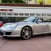 2009 Porsche 911 Carrera S (997) Cabriolet GT Silver on Black in Beverly Hills @porscheconnect 1228