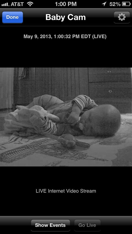 Dropcam Baby Cam iPhone App
