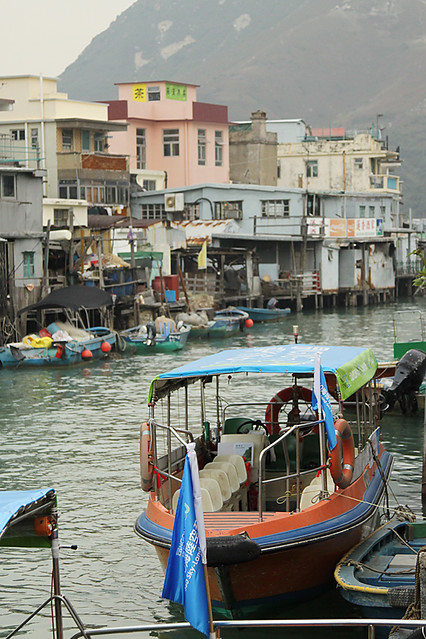 Houses on stilts at Tai O fishing village, Lantau Island