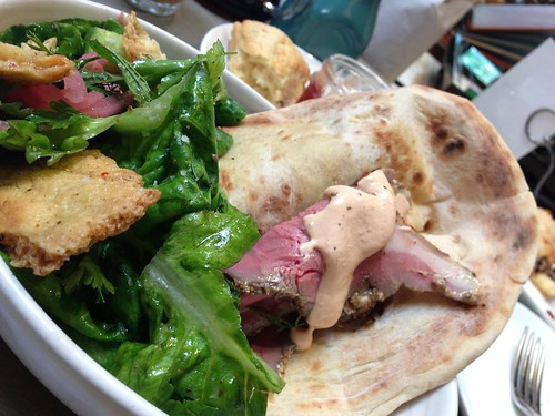 Keep thinking about this lamb & fattoush @marlabakery brunch