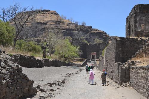 city india monument nikon ruins fort maharashtra daulatabad