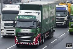 Volvo FH 6x2 Tractor - PX11 CKK - Lucy Helena - Eddie Stobart - M1 J10 Luton - Steven Gray - IMG_2786