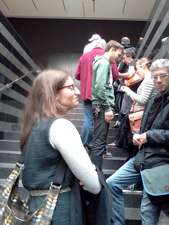 Line for the Clock at SFMOMA