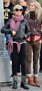Elsa Pataky Studded Biker Boots Celebrity Style Women's Fashion