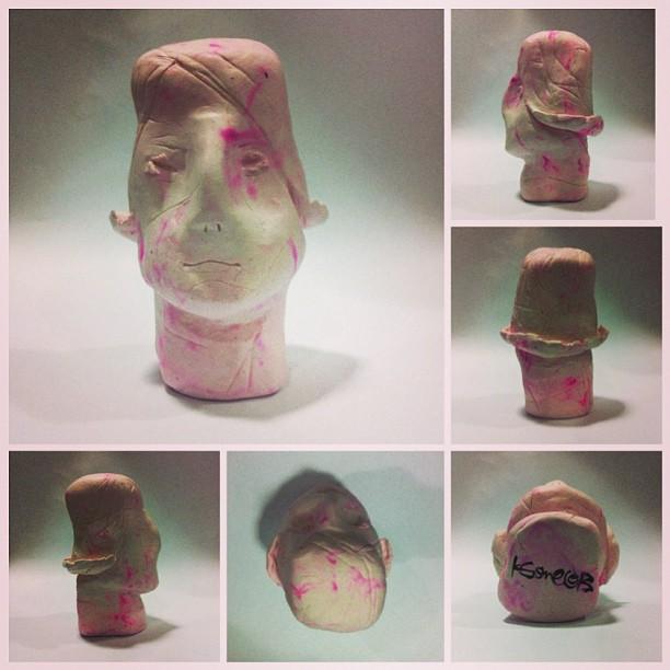 Headache / 85x57x55mm / Natural Stone Clay / ks©2013