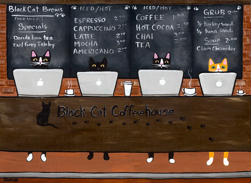 black cat coffeehouse by Kilkennycat