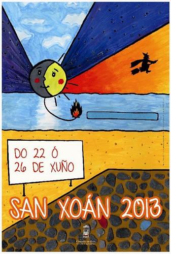 Poio 2013 - Festas patronais do San Xoán - cartel