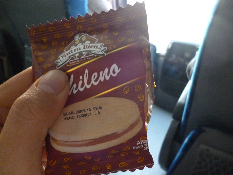Chilena biscuit with dulce de leche filling