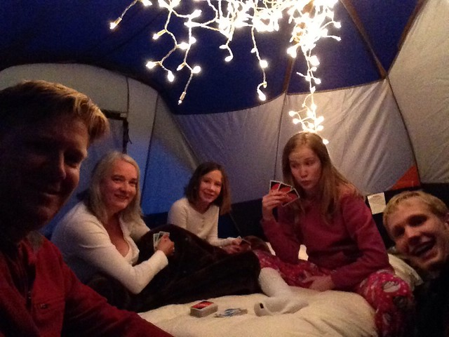 A Night of UNO in the tent