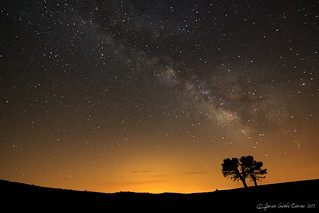 The silhouette and the Milky Way...