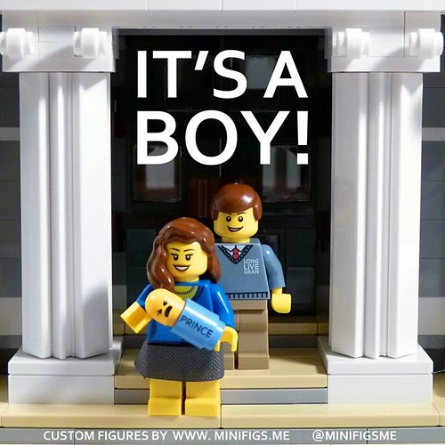 Congratulations to William and Kate! It's a boy! Royal Lego Baby