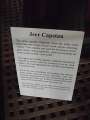 HMS Victory - Portsmouth Historic Dockyard - Middle Deck - Jeer Capstan