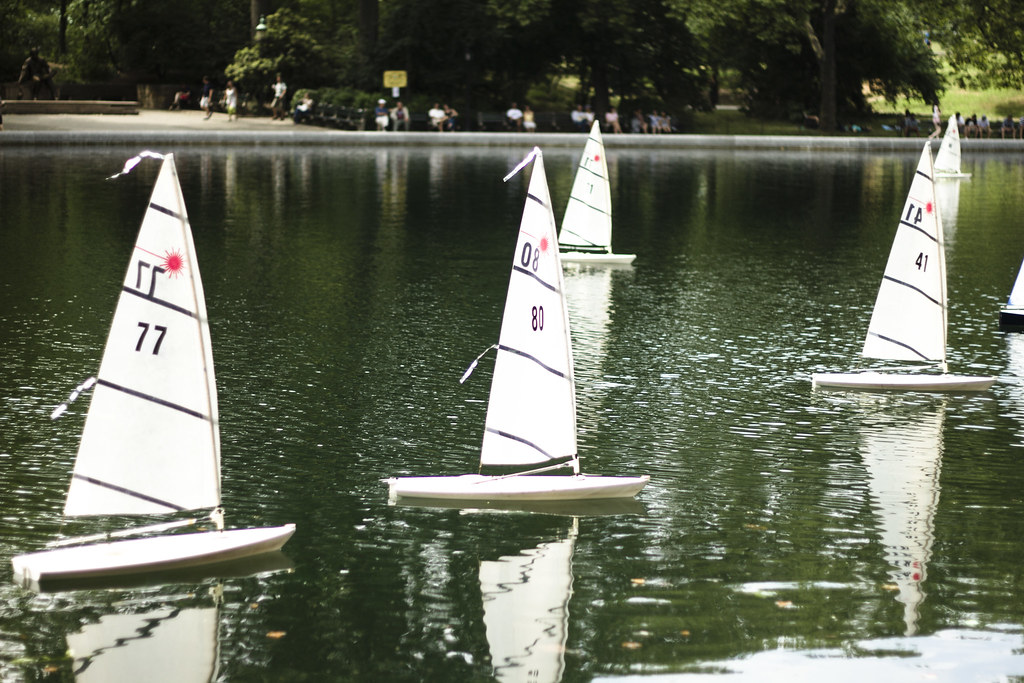 boats in Central Park