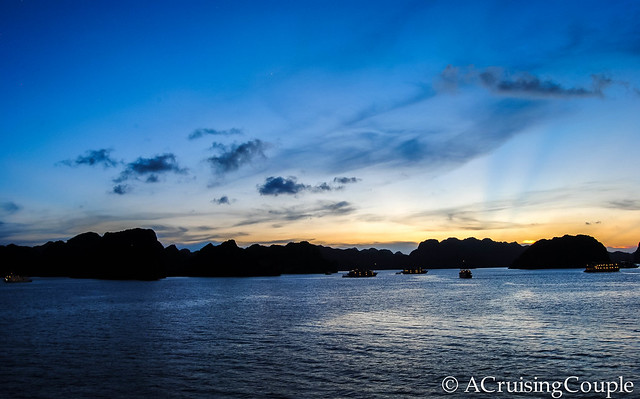 Sunset Halong Bay Vietnam