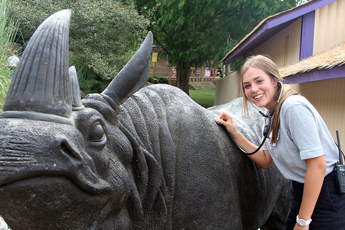 Kelsey and the rhino
