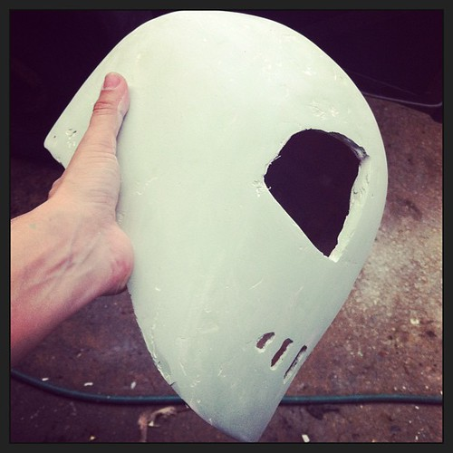 Curves are getting there slowly :-) #rocketeer #helmet #steampunk by [rich]