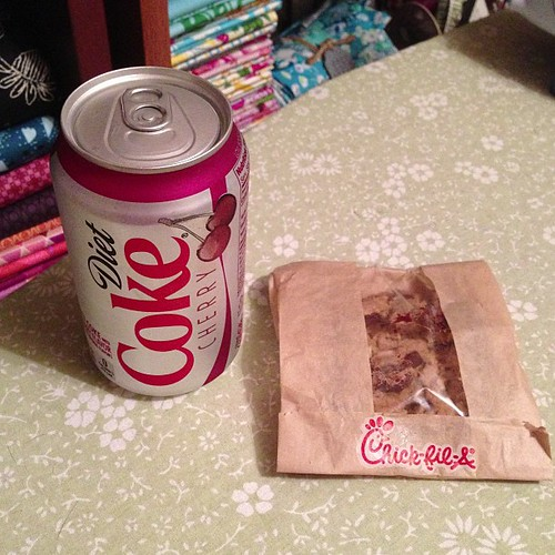 231:365 Soda & cookie break (from sewing up last minute gifts).