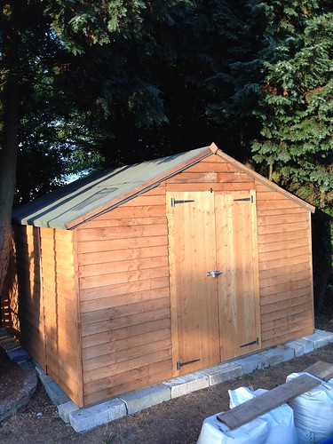 Shed complete 2 day job they said 1/2 a day :)