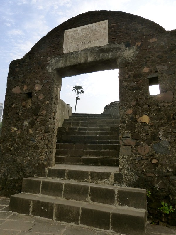 Bandra Fort - stairway up to the hill