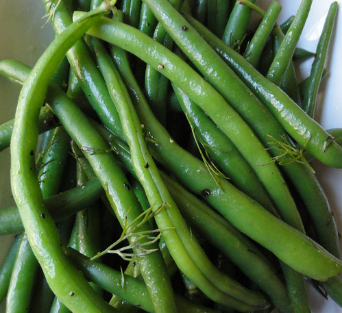 green beans with butter and dill