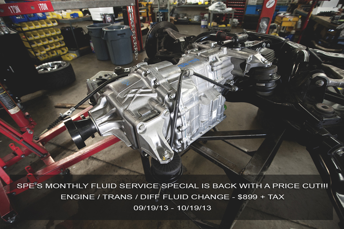 SP Engineering: One Month Fluid Service Special is BACK! (09/19/13 – 10/19/13)