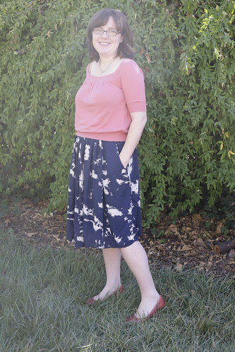 Rayon gathered skirt