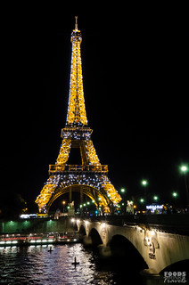 Paris - Eiffel Tower at night sparkling