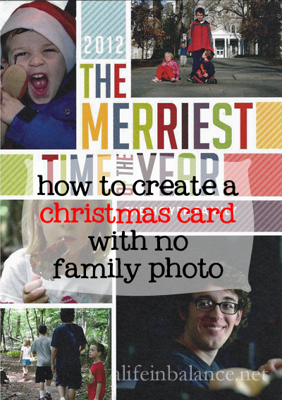 How to Create a Christmas Card with No Family Photo