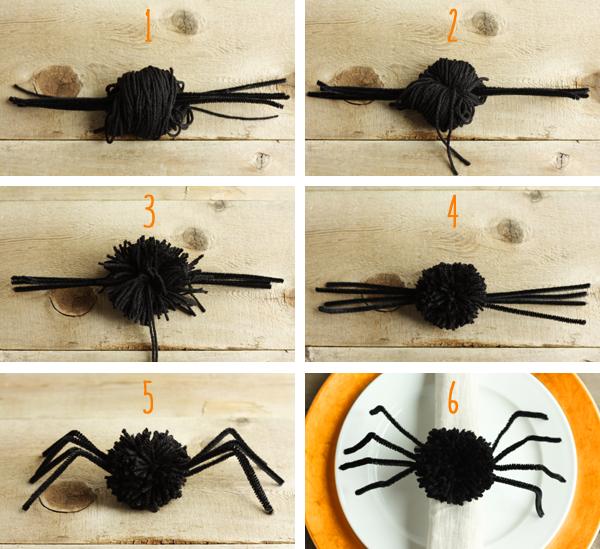 fuzzy-spider-napkin-rings